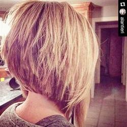 show the back of some modern womens medium length haircuts 22 cute inverted bob hairstyles popular haircuts