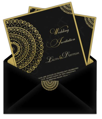 email wedding card letter style design 25 – luxury indian
