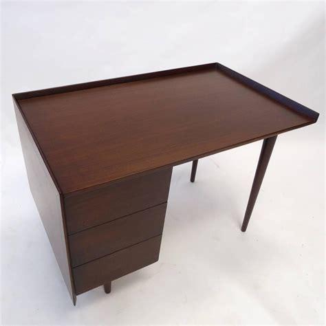 Sleek Desks by Sleek Mid Century Modern Jens Risom Three Drawer Mahogany