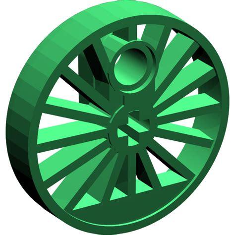 Wheels X Trayn Green lego green wheel large 216 30 with axlehole and pinhole