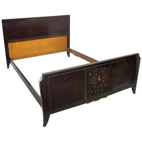 art deco bed french art deco bed attributed to jules leleu in rosewood