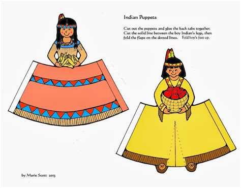 Indian Paper Crafts - serendipity hollow pilgrim and indian paper dolls