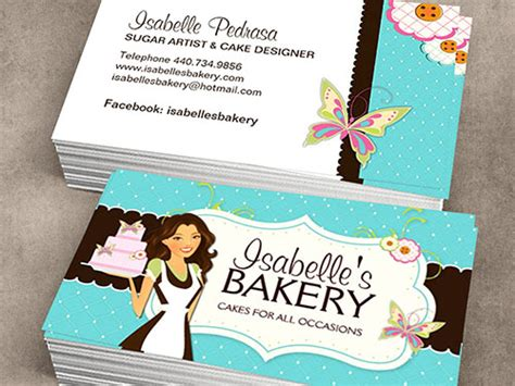 Free Printable Bakery Business Card Templates by Make Your Own Business Card From 20 000 Designs