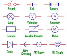 electric circuit symbols worksheet images