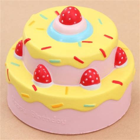 squishy shop vlo happy birthday cake yellow icing squishy
