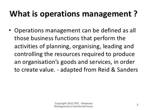 Mba In Operations Management Scope by Image Gallery Operations Management Activities