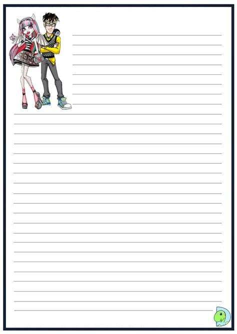 monster high writing paper dinokids org
