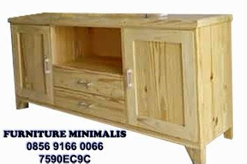 Lemari Tv Import Furniture Minimalis Jati Belanda