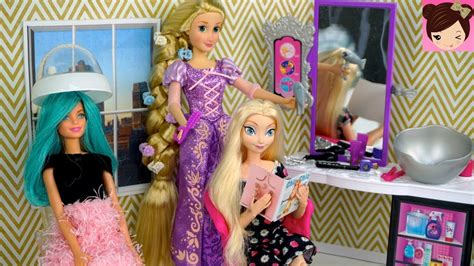 real like rapunzel has 64 inch hair she refuses to get cut barbie rapunzel hair style salon queen elsa doll hair wash