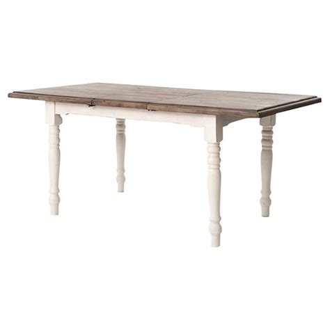 Elwin Modern Classic Reclaimed Wood Whitewash Adjustable Modern Reclaimed Wood Dining Table