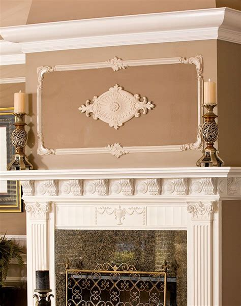 decorative wall fireplace wall decor with medallion above fireplace mantel