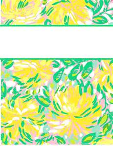 lilly pulitzer binder templates my binder covers binder covers binder covers