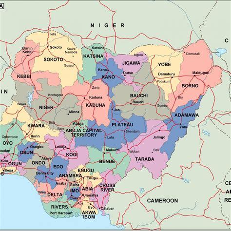 political map of nigeria ezilon maps nigeria politische karte
