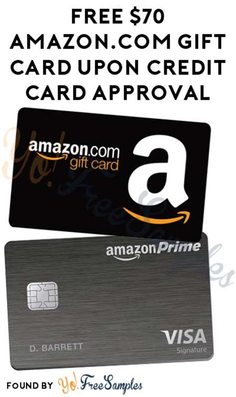 Amazon Credit Card Gift Card - free 70 amazon com gift card upon credit card approval credit check required yo