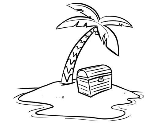 dibujo de un tesoro dibujo de la isla del tesoro para imprimir y colorear