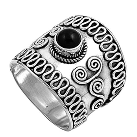 bali ring new 925 sterling silver wide band ebay