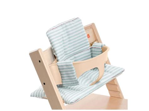 coussin chaise stokke stokke coussin pour chaise tripp trapp rayures aqua enduit