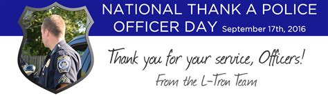 National Thank A Officer Day homepage l corporation