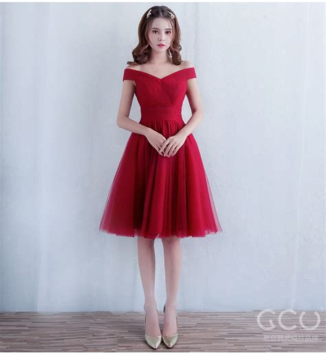 Fresh Color Dress 17054 new arrival in stock prom dress 2016 boat neckline burgundy homecoming dress 3 colors