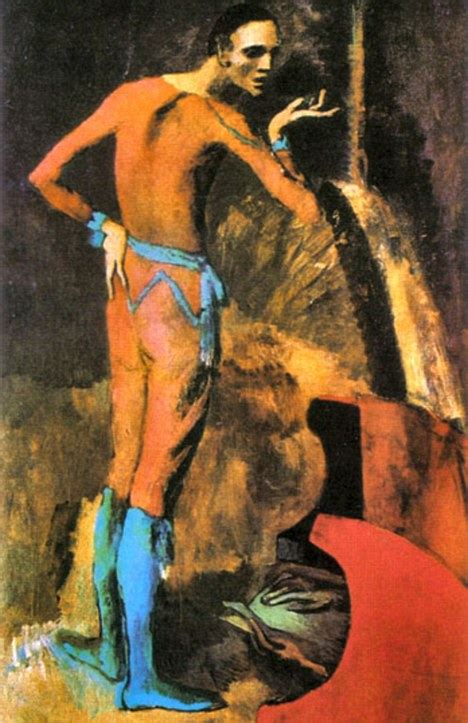 picasso paintings pink period picasso s the actor painting damaged by student at