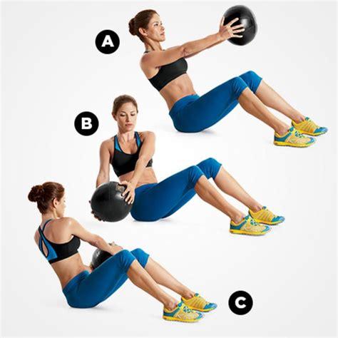 swiss  medicine ball moves     swiss ball exercises russian twist