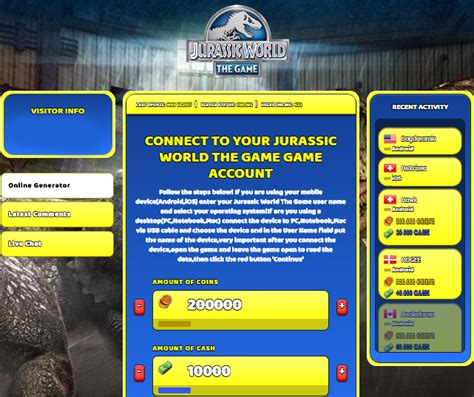 jurassic world game cheats hack for 2016 cash coins jurassic world the game hack cheat online coins and cash