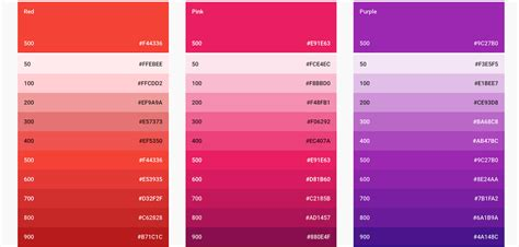 Shades Of Red Names aesthetic sass 2 colors and palettes scotch