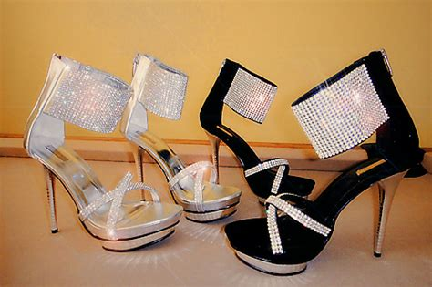 black rhinestones prom shoes 2014 prom styles