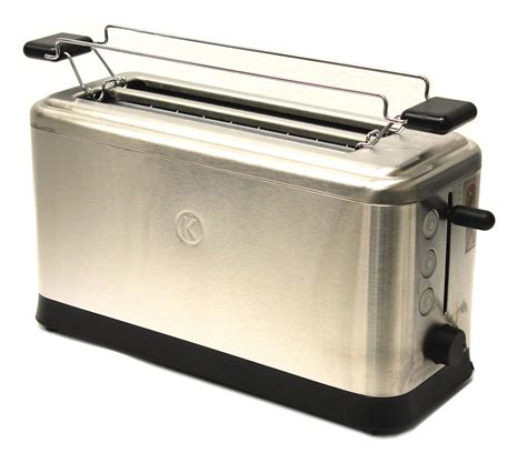 Glass Toaster Kenwood Ttm401 Slit Toaster Stainless Steel 4 Glass