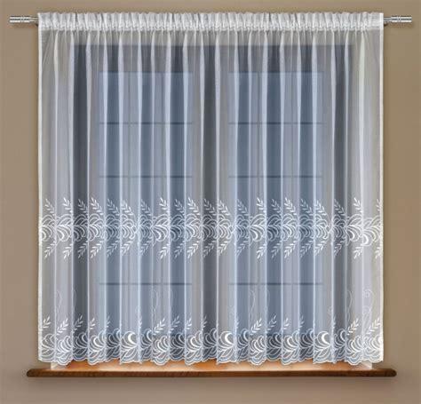 vorhang shop fertig gardine mit universalschienenband stickerei