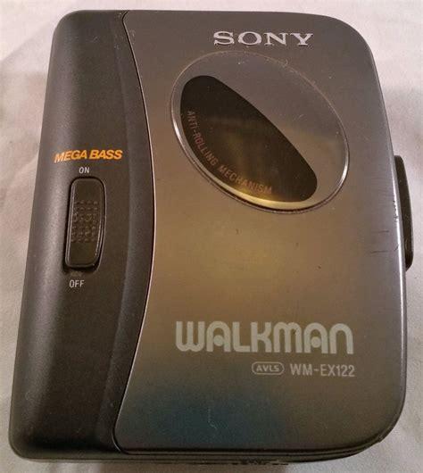 sony walkman cassette sony walkman wm ex122 cassette player mega bass belt clip