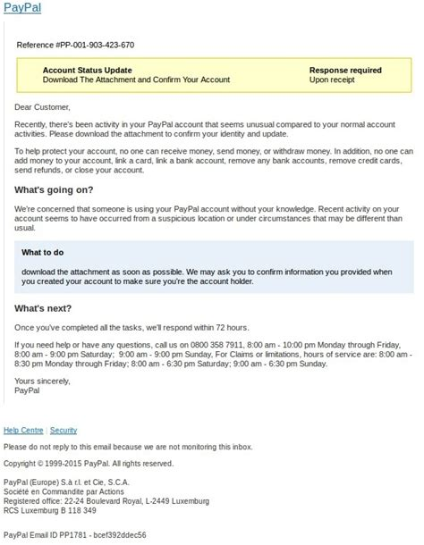 Report Phishing Letter Scammers Targeting Paypal Users With Suspicious Activity Phishing Scam