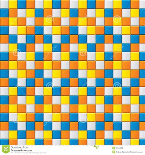four colored colourful mosaic with four colored squares stock vector