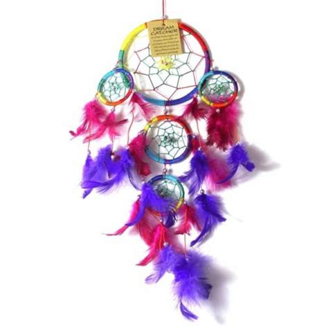 12cm dream catcher rainbow web design with multi coloured