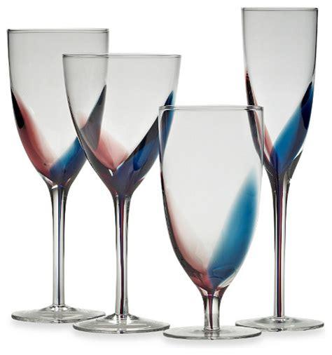 modern wine glasses mikasa kya stemware collection contemporary wine
