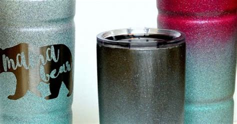 spray paint yeti cup ombre spray painted glitter cold cup yeti cup