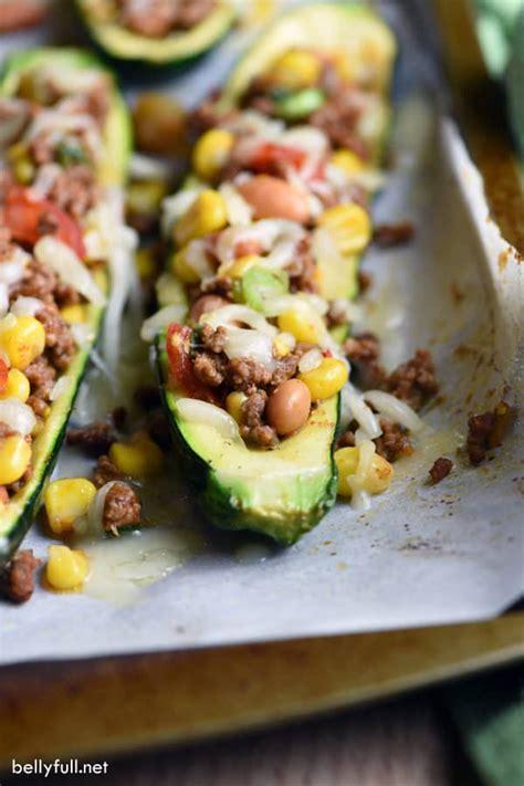 beef taco boats recipe taco zucchini boats
