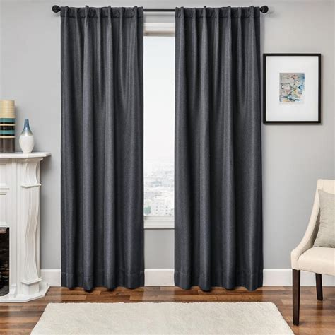 charcoal grey curtain panels object moved