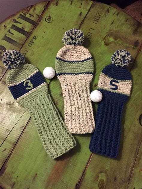 knitting pattern golf driver cover 109 best images about crocheted knitted golf club covers