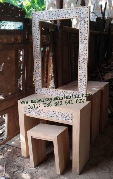 Meja Rias Kayu Murah meja rias jati minimalis koin ranting mebel kayu minimalis