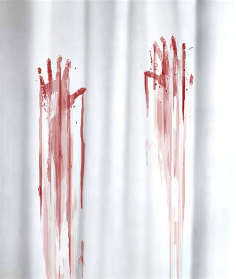 bloody shower curtain and bath mat bloody bath accessories sure to freak out your houseguests technabob