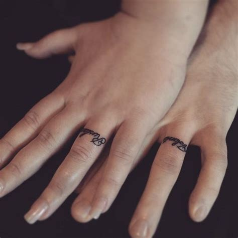 Wedding Tattoos by 50 Cool Wedding Ring Tattoos To Express Their Undying