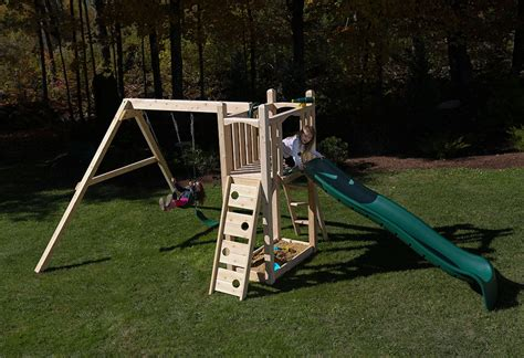 swing set kit cedar swing sets kits wonder play set three