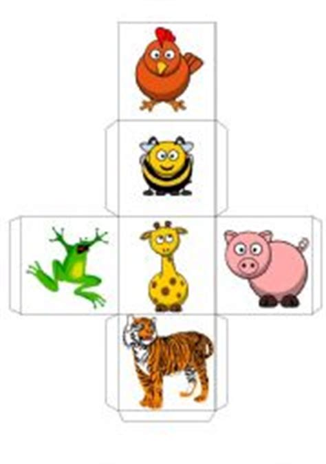 printable animal dice english teaching worksheets dice games