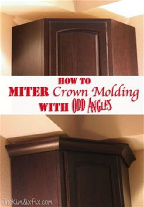 how to cut crown molding angles for kitchen cabinets separate wall colors and moldings on pinterest