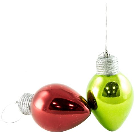5 quot christmas light bulb ornament metallic red 81756asst