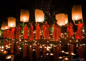 yi peng the festival of lights in chiang mai thailand