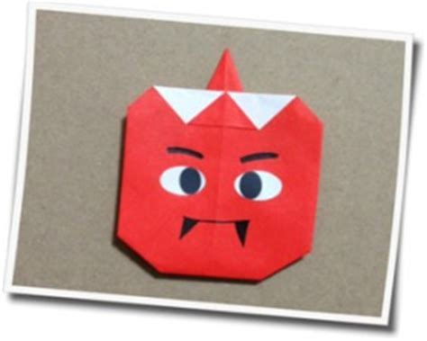 Origami Oni - 節分の鬼 お福さんの簡単な折り方 今年の節分は子供と折り紙もいいかも