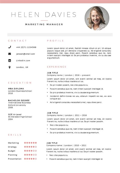 Curriculum Vitae Template by 25 Best Ideas About Cv Template On Layout Cv