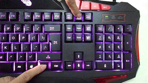 keyboard colors meidi cool blue led illuminated backlight usb multimedia